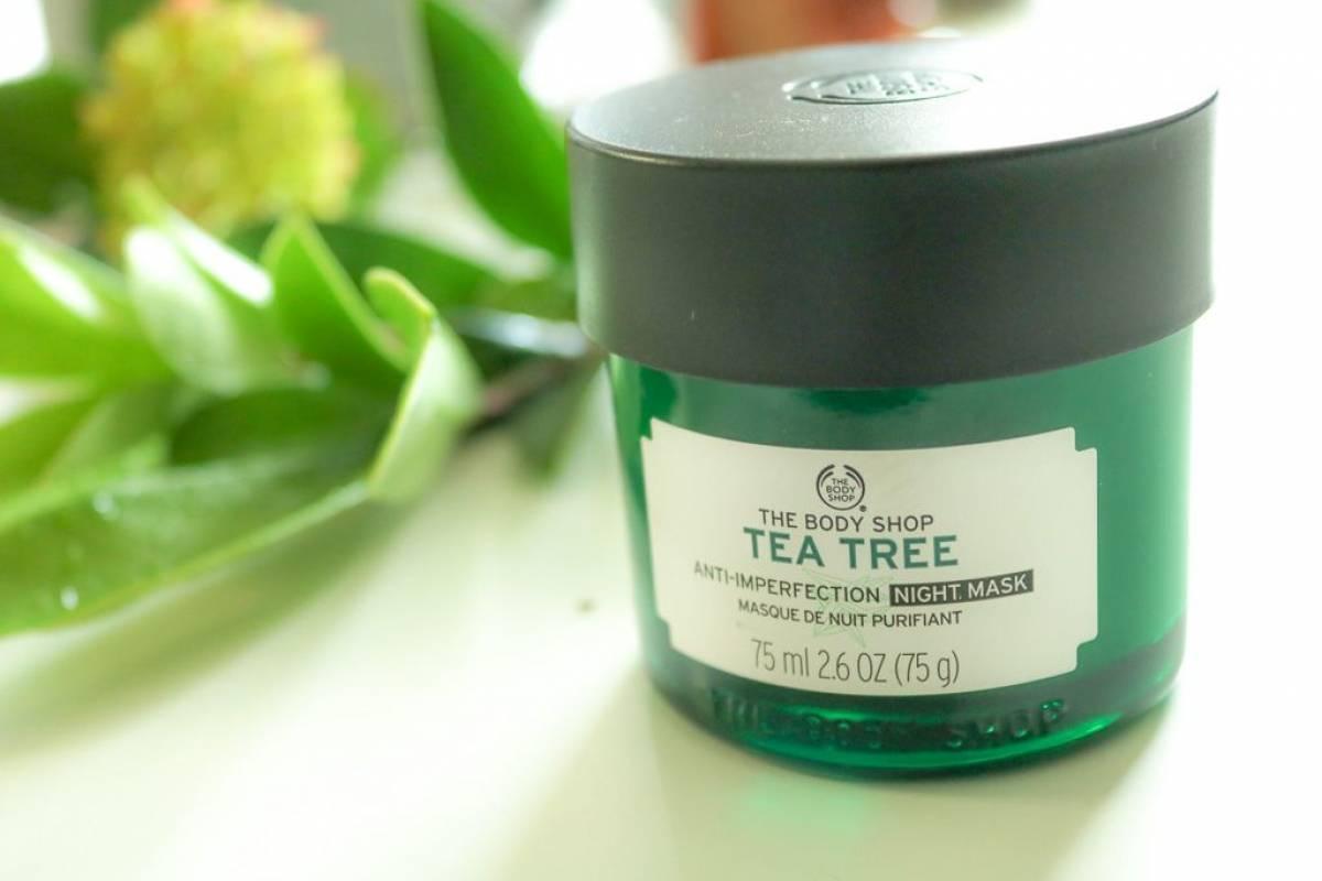 Tea Tree Anti-Unreinheiten Maske für die Nacht - sanft reinigende Gesichtsmaske